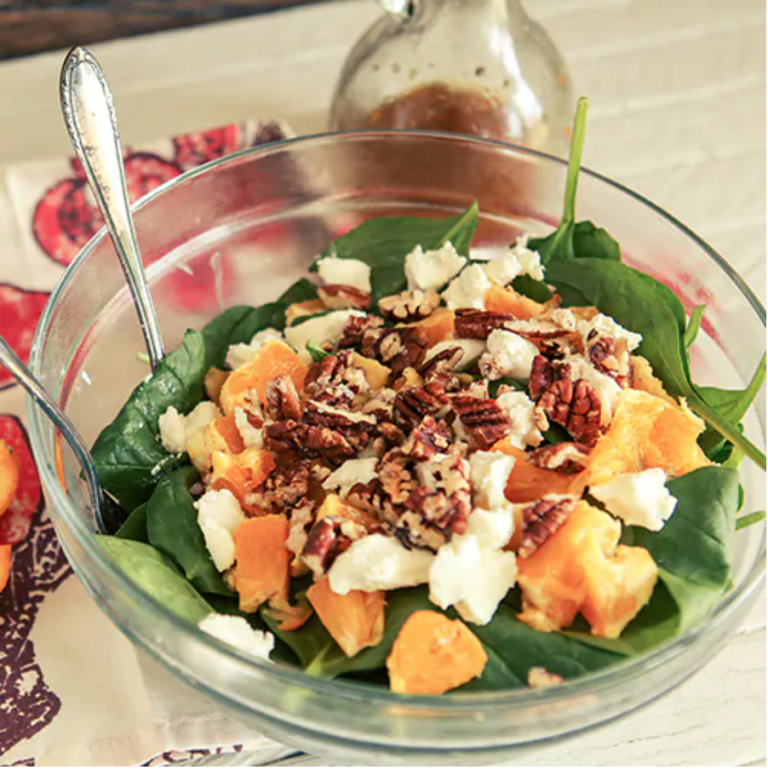 Orange Citrus Salad with Cranberry Orange Dressing