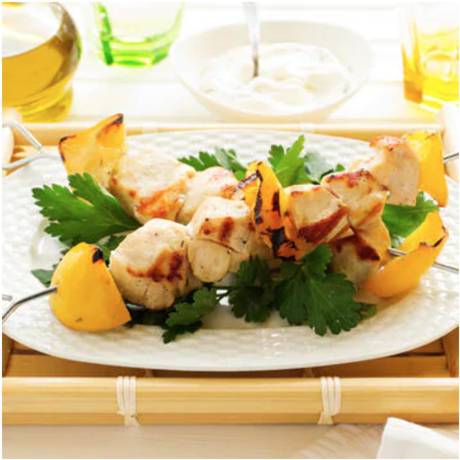 Grilled Lemon Chicken Kebab