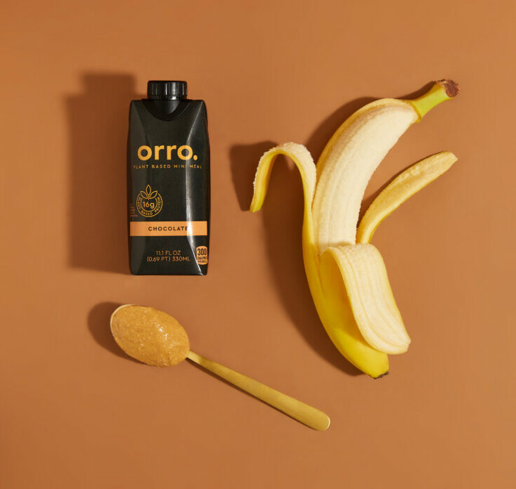 Orro Peanut Butter Banana Chocolate Shake