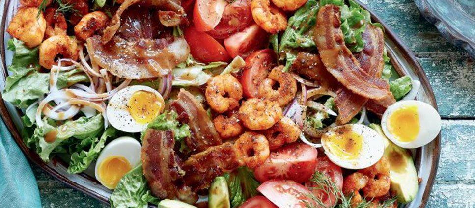 Grilled Shrimp Cobb