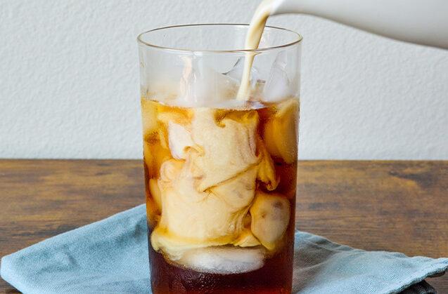 Iced Oat Milk Latte with Frozen Honey