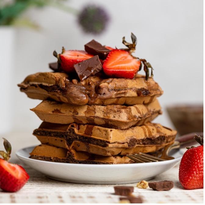 Dairy-Free Chocolate Coffee Waffles